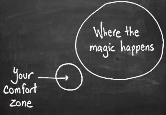 go out of your comfort zone